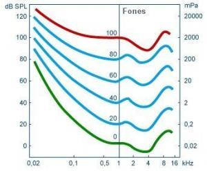 Curvas de iguais intensidades sonoras ou curvas isossónicas.